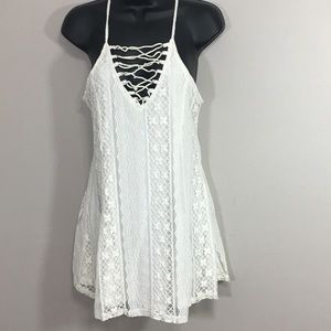 Kendall & Kylie Tunic Small Overlay Lace Bodice
